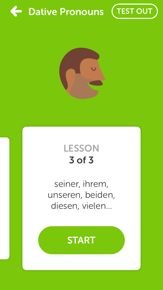 Duolingo Lesson Topics
